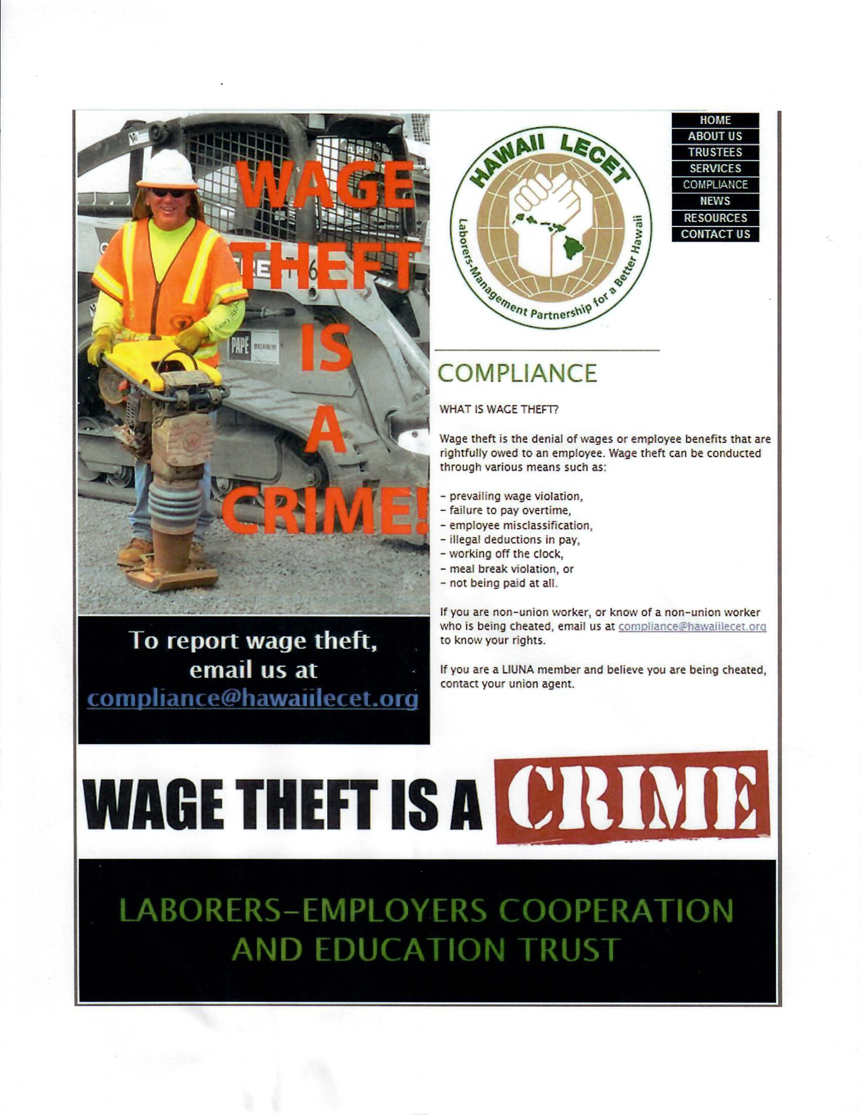 Wage Theft is a Crime | BAC Locals
