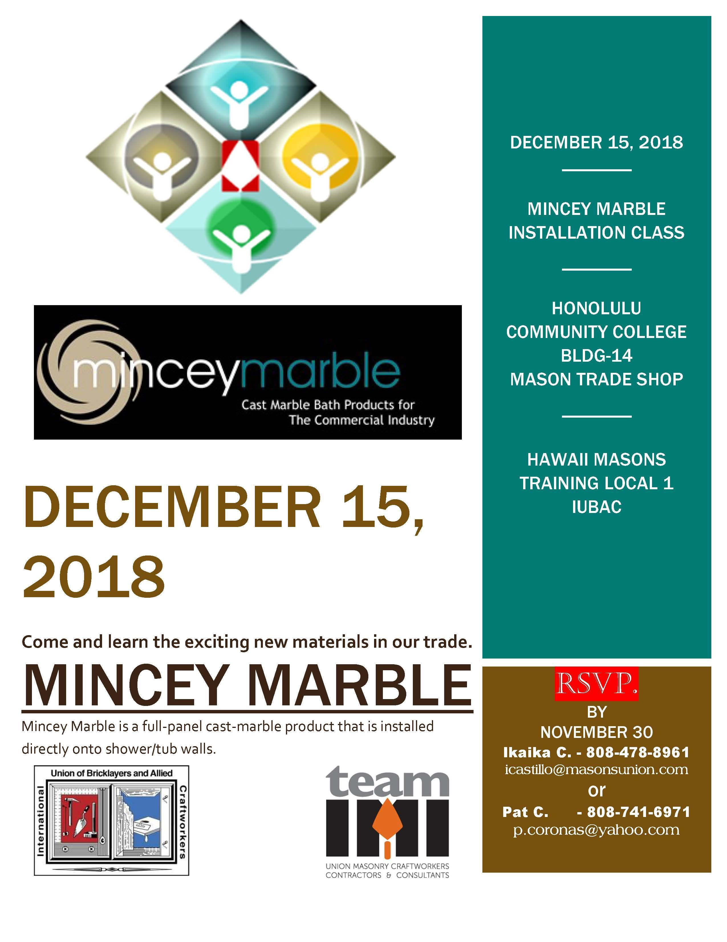 Mincey Marble | BAC Locals